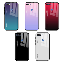 Gradient Tempered Glass Case for Honor 7C Covers on for Huawei Honor 7A Pro C7 A7 Pro 7 A C 7Apro 7cpro Y5P Y6P P40 Lite E coque