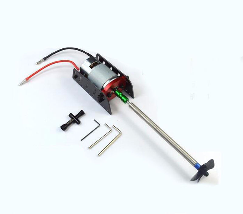 цены 1Set 775 Motor Drive Set 4mm Shaft Power Set Motor+Shaft+Motor Seat+Propeller+Coupling+Bushing Kit for DIY Boat Model