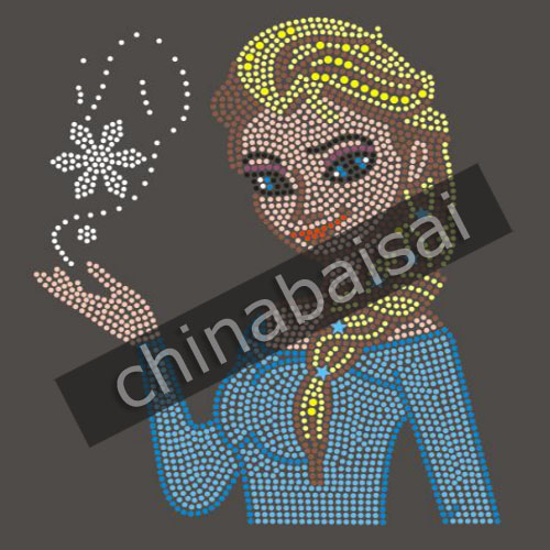 ELSA with Snowflakes FROZEN Design Rhinestone Hot Fix Transfer Crystals 25  Pieces Lot 80fb61ad16ab