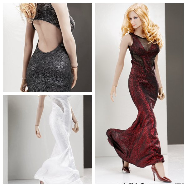 1:6 Scale Female Figure Accessory clothes sexy Dress + shoes for 12 Action figure doll,not include head;body and other 16B2844 1 6 purple female sexy leather skirt dress suit clothing model toys for 12 female action figures body accessory