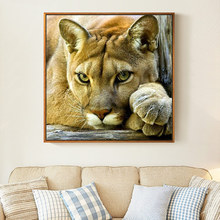 Meian,DIY Animal Lion Painting,Embroidery,Full White Needlework,Cross stitch,kits,14CT Cross stitch,Sets For Embroidery,VS 41
