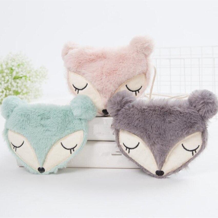 Bag Small Messenger-Bag Fox-Design Little Wholesale Cartoon Women M454 Coin-Bag Plush