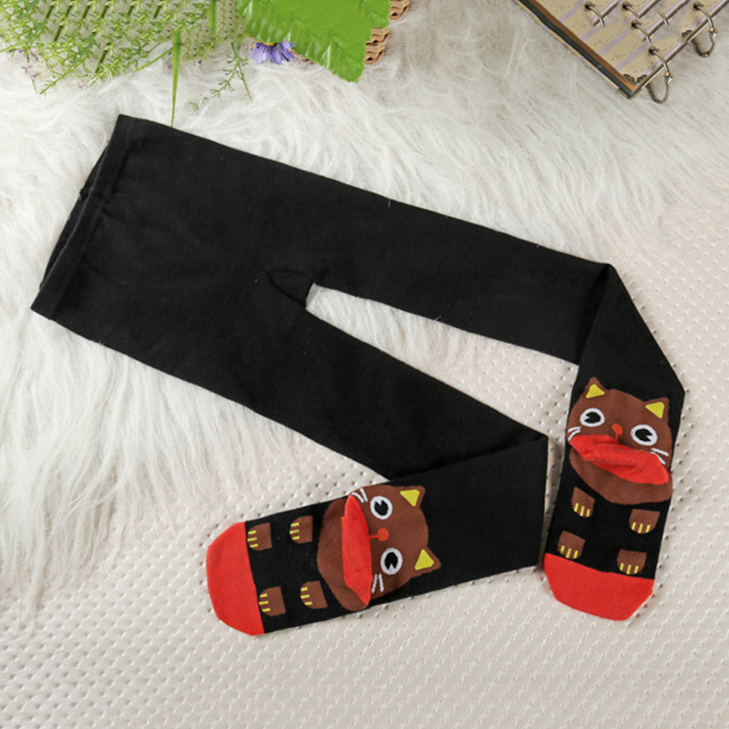 Children Kids Girls Boys Baby Cat Cartoon Pantyhose Tights Socks Stockings S M L ...