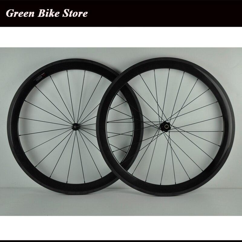 Roues de carbone de vélo de route de pneu de 700C 50mm roues de vélo de largeur de 23mm