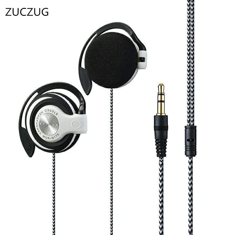 ZUCZUG NEW Q170 Headphones 3.5mm Headset EarHook bass Earphone For Mp3 Player Computer Mobile Telephone Wholesale universal headphones 3 5mm earphone earhook with clear voice for mp3 player computer apple iphone 6 6s 5 5s mobile phone headset