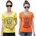 Casual T-shirt Para As Mulheres Top Mulheres Casual Verão Estilo Fino T-shirt da Cópia Do Vintage Básico de Manga Curta Camisas de Alta Qualidade M-4XL