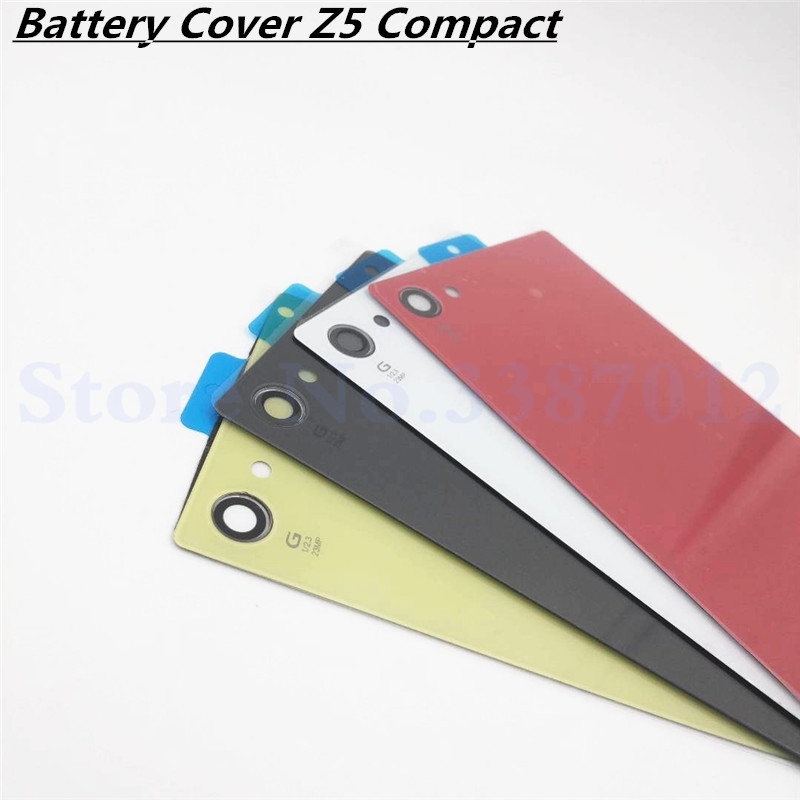 New Back Battery Cover Door For Sony Xperia Z5 Compact Mini E5803 E5823 Housing Rear Glass Case With NFC And Logo