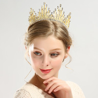 The New Full Circle Simulated pearl bride crown Tiaras Wedding Accessories
