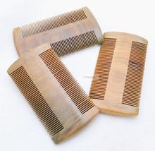 Natural Handmade Green Sandalwood Hair comb no static Narrow Tooth Pocket Beard wood Combs Styling Tool tangle detangling