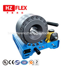 By courier hand Teflon ptfe hose crimper P16HP 1 inch R2 hydraulic hose crimper machine human machine interaction by tracking hand movements
