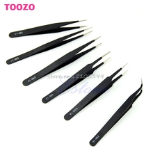 6Pcs/set Safe New Resists Corrosion Anti-static Tweezers Maintenance Tools ESD10-15 #G205M# Best Quality