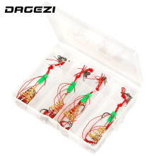 DAGEZI High quality Explosion Capture off Carbon Steel Sharp Fishing hook  4pcs/sets explosion hook fishing tackle 13-29