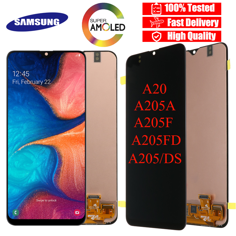 Original 6 4 LCD For Samsung Galaxy A20 A205 SM A205F LCD Display Screen replacement for