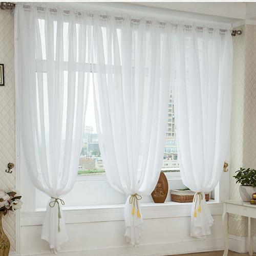 modernos breves telas brancas de linho cortinas seleo da janela para