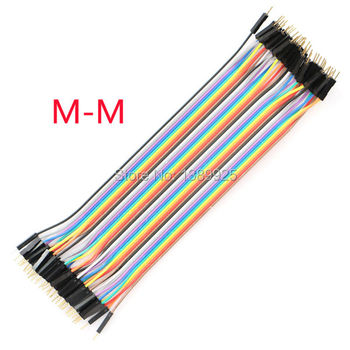 Free Shipping 10lots Total 400PCS (10*40P)  1P-1P Male To Male Dupont Line Cable IN STOCK