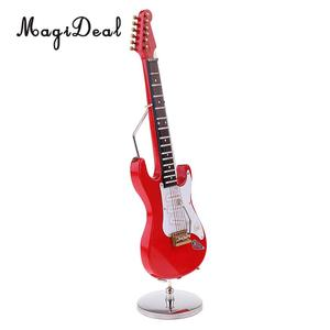 Image 4 - MagiDeal 1/6 Scale Wood Electric Guitar Model for 12 Inch Action Figure Accessory Kids Toys