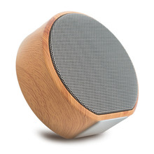 Retro A60 wireless bluetooth portable speaker  Small Card Wood Grain Sound music subwoofer