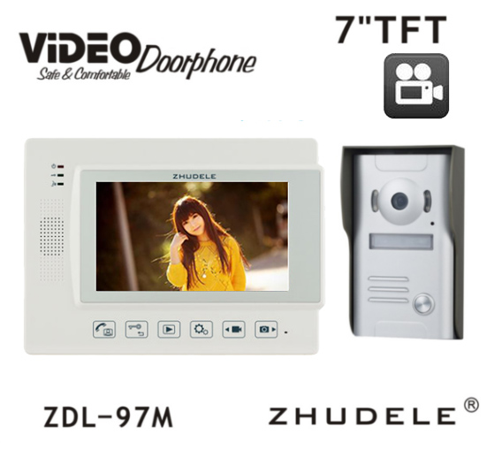 ZHUDELE 7  Wired Video Door Phone Touch button with SD Card Doorbell Intercom Night  sc 1 st  AliExpress.com & Aliexpress.com : Buy ZHUDELE 7