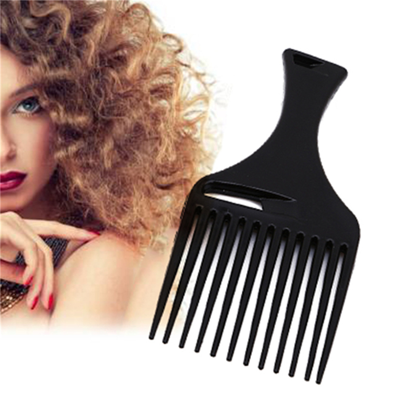 1PC Comb Hair Fork Comb Insert Hairdressing Curly Hair Brush Comb Hairbrush Styling Tool For Men & Women Black