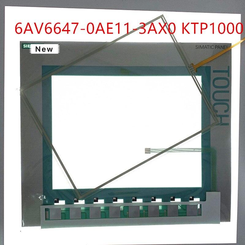 Numériseur d'écran tactile pour 6AV6 647-0AE11-3AX0 KTP1000 écran tactile pour 6AV6647-0AE11-3AX0 KTP1000 avec interrupteur à clavier à Membrane
