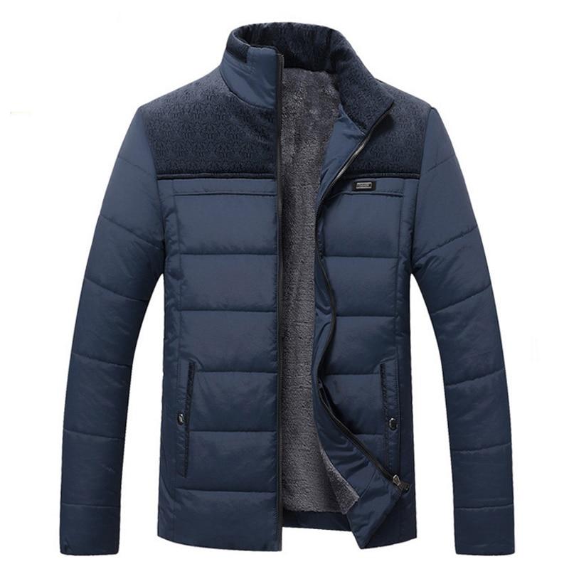 Для мужчин; зимняя куртка теплая хлопковая подкладка простегано, воротник-стойка теплая куртка Верхняя одежда ветрозащитный с капюшоном Дл...