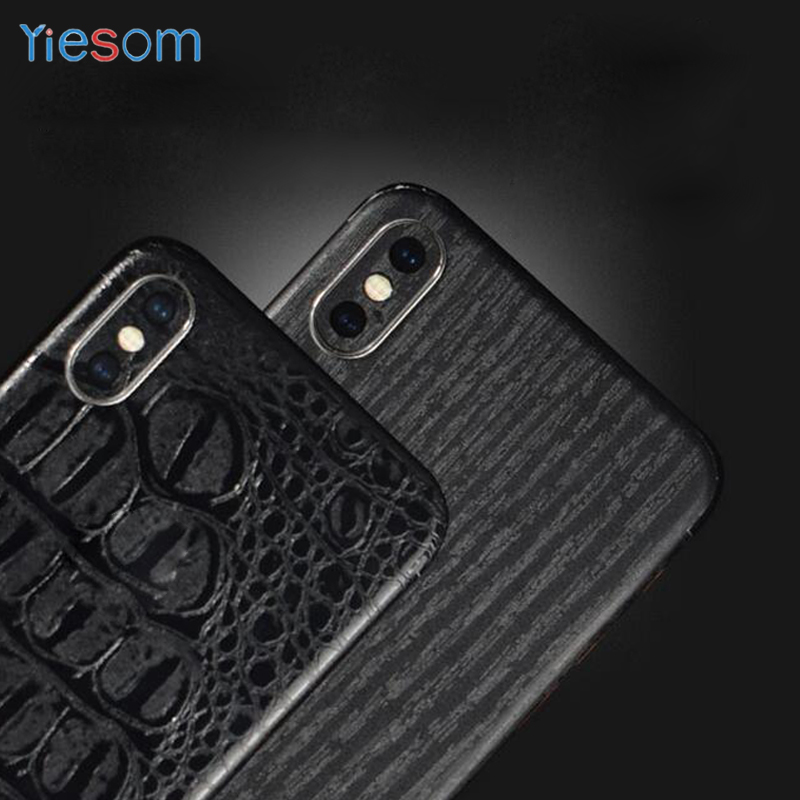 Back Film Screen Protector Stickers For iPhone XS Max XR X 8 7 Carbon Fiber Leather Skins Sticker For iPhone X XS 8 7 Plus 6 6S iPhone XS