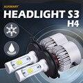 Auxmart S1 H4 72 W LED Faros 6500 K 8000LM haz Hi-lo faro para Peugeot 208 308 3008 Chevrolet Silverado Cruze Ford enfoque