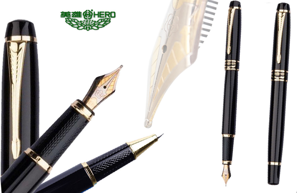 Gel Roller Ball pen / Fountain pen   Original HERO 1501 office and school writing stationery  The best gifts  Free Shipping roller ball pen jinhao 189 noblest ancient silver medium 0 7mm nib great wall pen