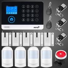 WG11 WIFI GSM Alarm Wireless Home Burglar Security Alarm System APP Control RFID Card Motion Detector PIR Door Sensor Remote