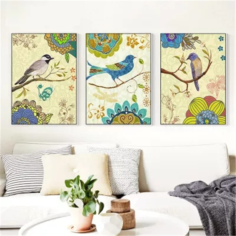 DiamondEmbroidery,China,landscape,scenery,Bird,5D Full Diamond Painting,Cross Stitch,Flower Mosaic,Decoration