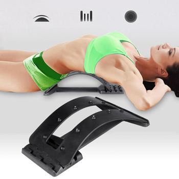 Zakrzywione rozciąganie masaż pleców sprzęt Fitness Stretch Relax kręgosłupa nosze podparcie lędźwi kręgosłupa ulga w bólu chiropraktyka