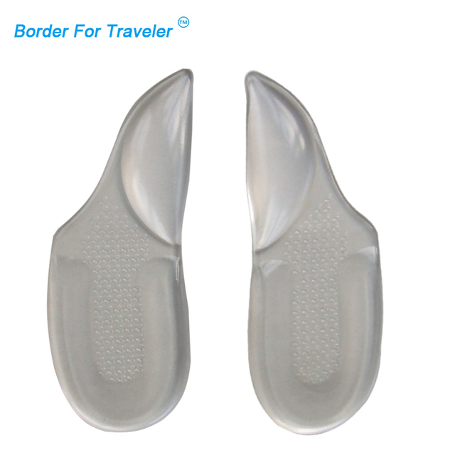 279c7e92a1 2 pairs GEL 3/4 Arch Support pad for High Heels,Flat Feet Orthotics,Orthopedic  Insoles Corrector Shoes Woman Feet Care insole