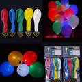 100 unids Flash Led Iluminado LED Globo Globos Resplandor En La Oscuridad del Cielo Linternas Decoración de Feliz Cumpleaños globos Globos De Fiesta