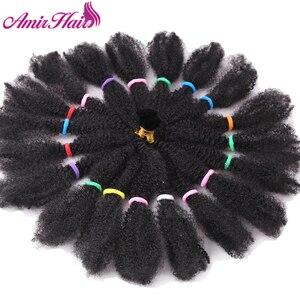 "Image 3 - Amir Mega Afro Kinky Twist Synthetic Hair 14 ""Crochet Braid Hairสำหรับผู้หญิงสีดำผม"