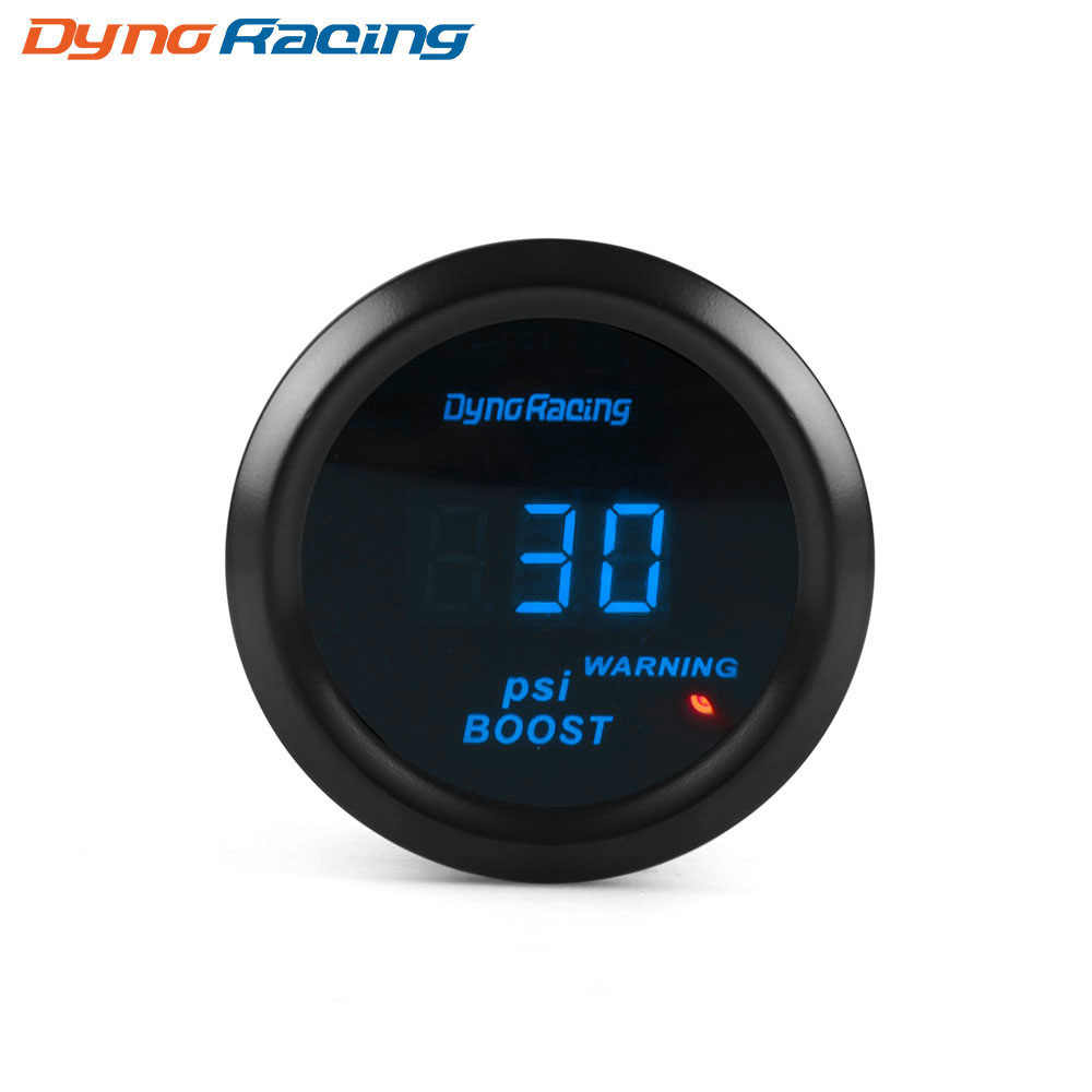 Dynoracing 2 Inci 52 Mm Turbo Boost Pengukur-14 ~ 30PSI Biru LED Digital Turbo Boost Meter Sensor BX101461
