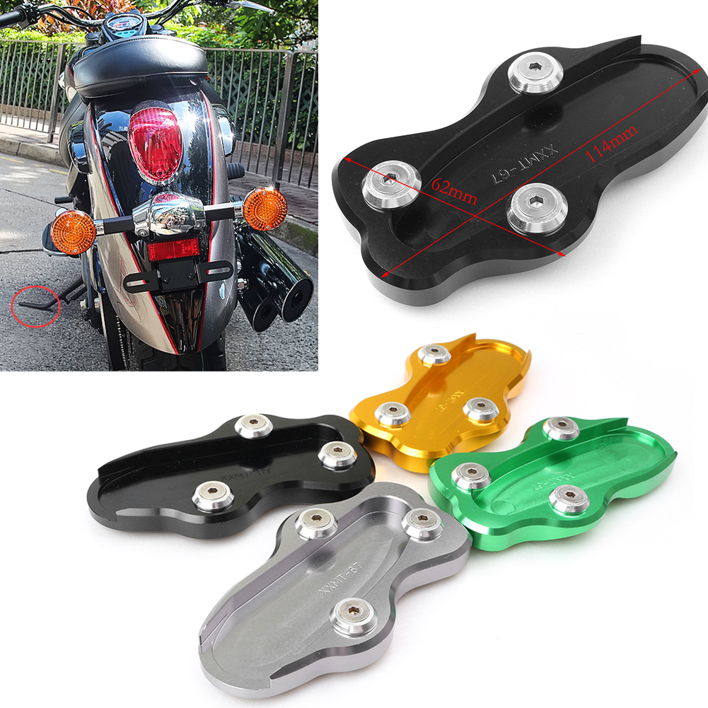 CNC Motorcycle Kickstand Foot Side Stand Extension Pad Support Plate For KAWASAKI Vulcan 900 2006-2016 Aluminum