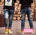 Jeans 2016 new Winter boys warm jean for 3 to 14 years old kids wear fashion style high quality children trousers B182