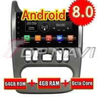 Autovideo Topnavi Android 8.0 Media Center CD Player Do Carro Para O Logan Sandero Duster 2015-2016 Navegação GPS 2 Din NÃO DVD