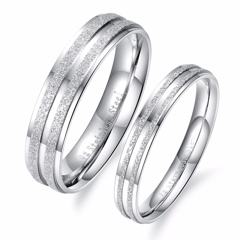 Cheap Price Promotion Classical Simple Design Lover's Rings Personalized  Dull Polish 316l Stainless Steel Woman Man