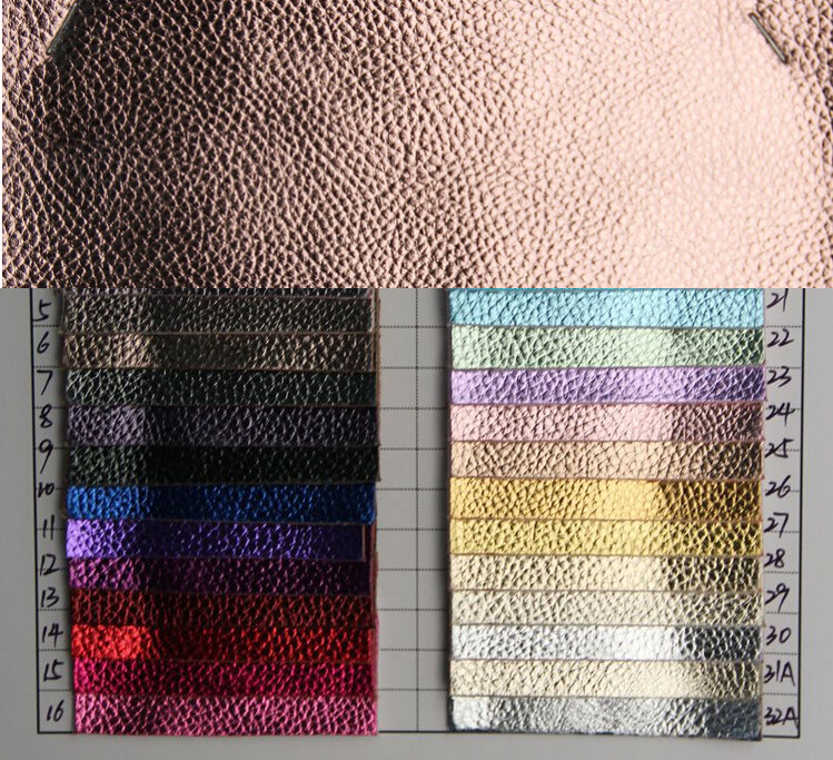 Belts Aggressive Synthetic Litchi Grain Pu Leather 30 Yards/lot Metal Shiny Embossed Leather Faux Leather For Shoes Home Furniture