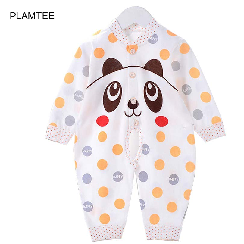 Cute Long Sleeve Baby Jumpsuit for Girl Boy Clothes Single Breasted Baby Unisex Rompers Cartoon Dot Baby Costume Infant Romper cute minnie baby girl romper long sleeve baby clothes roupa infantil macacao ropa bebe jumpsuit baby rompers infant clothing