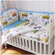Promotion! 6PCS baby bedding set Bed Linen baby girl crib bedding set baby crib set  ,include(bumpers+sheet+pillow cover)