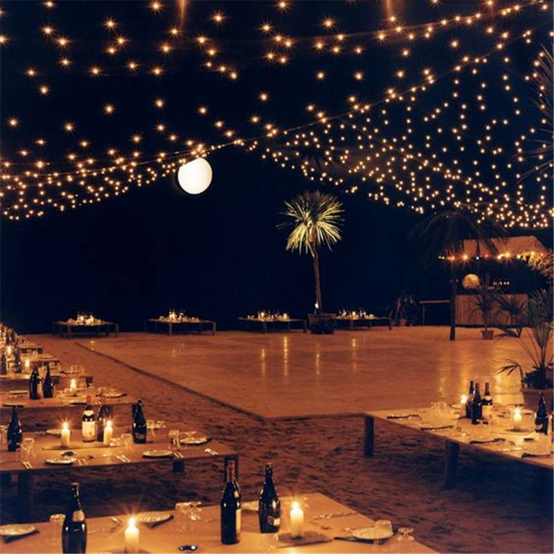 commercial weatherproof outdoor string lights 16 clear bulbs party restaurant patio lights shatterproof string lights