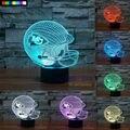 NFL Kansas City Chiefs 3D Night Light 1 Set Free Shipping 7 Colors Change LED Table Lamp Xmas Gift Creative Night Lamp