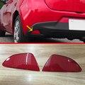 ABS Chrome Задний Противотуманный Фонарь Крышка Отражателя Для Mazda 2 Demio DJ DL 2015 2016 2017