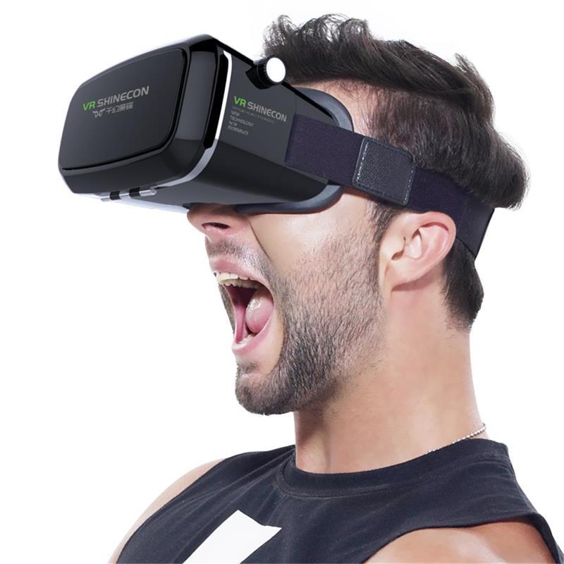 2018 оригинальные shinecon VR Pro виртуальной реальности 3D Очки гарнитура vrbox крепления головы Google картонный шлем для смартфонов 4- 6 дюймов ...