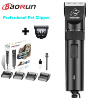 Double Blades Professional Pet Dog Hair Trimmer Animal Grooming Clippers Cat Cutters Machine Shaver Electric Scissor Baorun DZT0