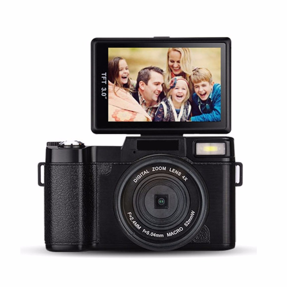 Newest Full HD1920x1080 Dslr Similar Digital Camera Max 24MP Mini Camera With dslr Rotatable Screen Changeable Lens image
