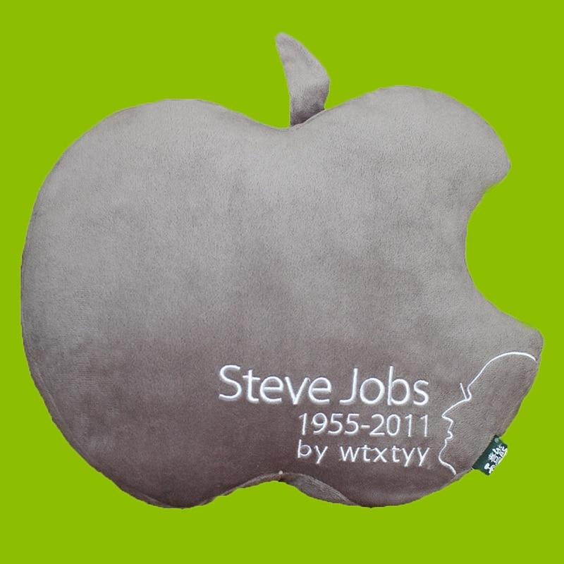 Stuffed <font><b>Cushion</b></font> Apple Logo Throw Pillow Soft Plush Toy <font><b>Home</b></font> Decoration Size 35cm*30cm