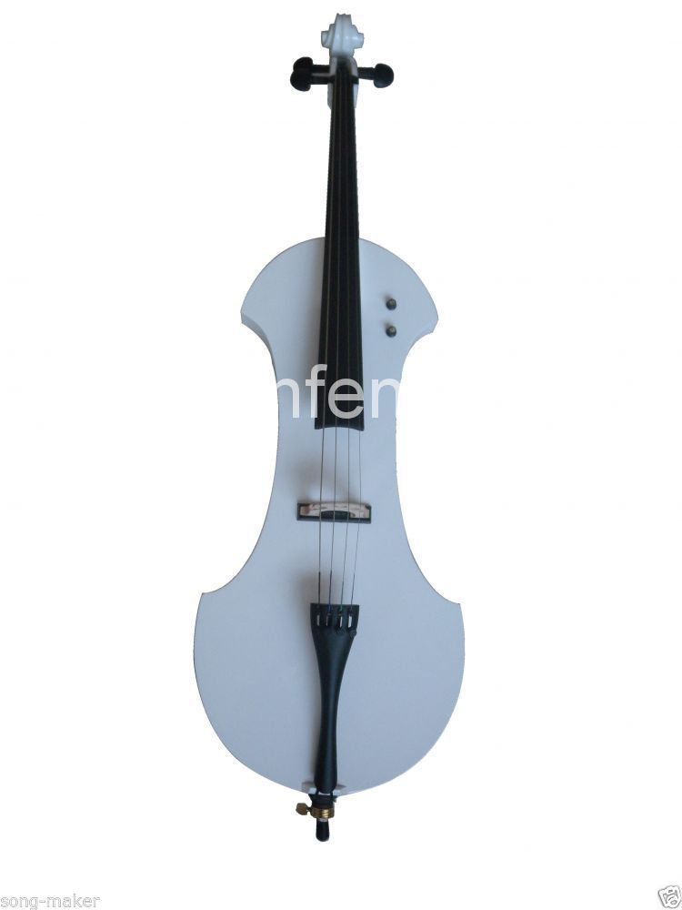 4/4 New Electric Cello Silent Powerful Sound Ebony Part Top Grade 4 4 electric cello 4 string silent powerful sound ebony part top grade you can choose color i can make for you
